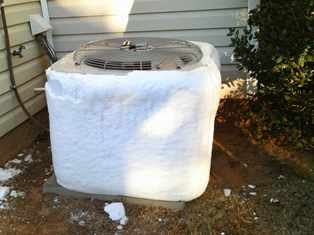 Have a Frozen Heat Pump? Don't worry, it's Normal during