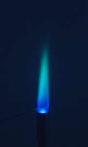 Small blue flame