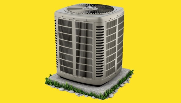 Jerry Kelly Isolated Air Conditioner Unit